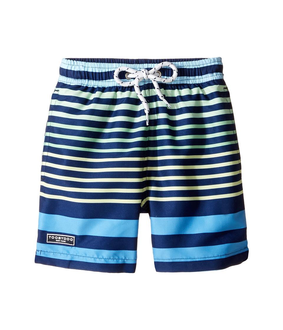 Toobydoo - Multi Stripe Blue Green Yellow Swim Shorts (Infant/Toddler/Little Kids/Big Kids) (Blue/Green/Yellow) Boy's Swimwear