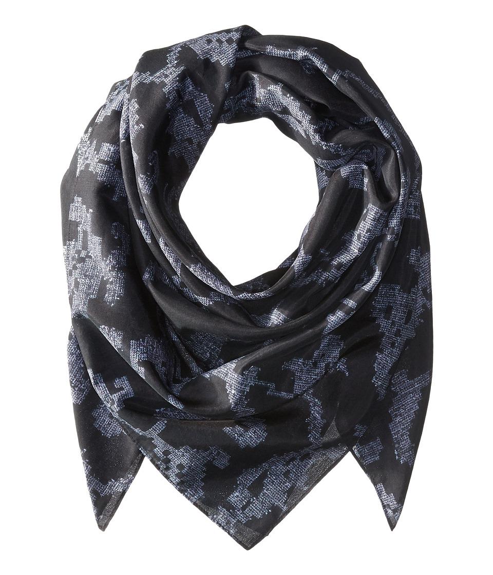 rag & bone - Etched Floral Scarf (Indigo Etch) Scarves