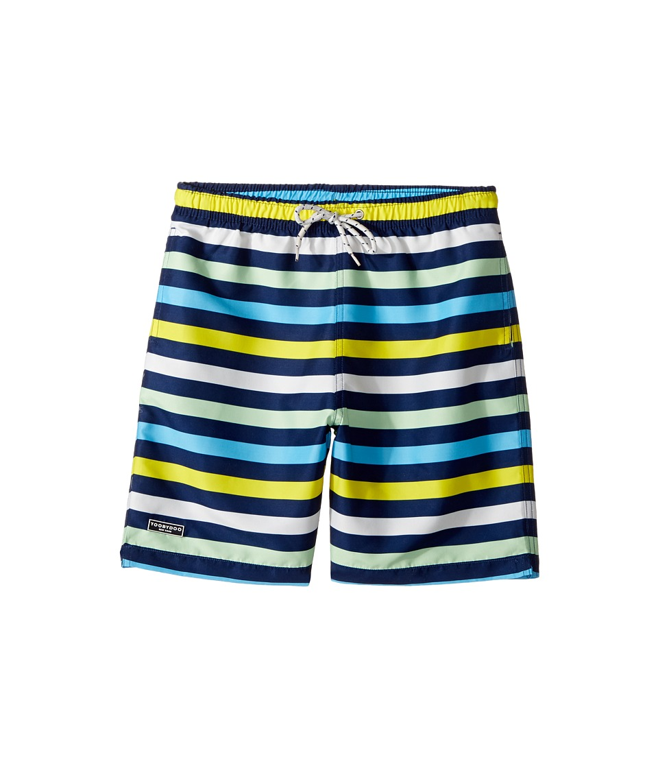 Toobydoo - Multi Stripe Swim Shorts (Short) (Infant/Toddler/Little Kids/Big Kids) (Navy/Blue/Green/White/Yellow) Boy's Swimwear
