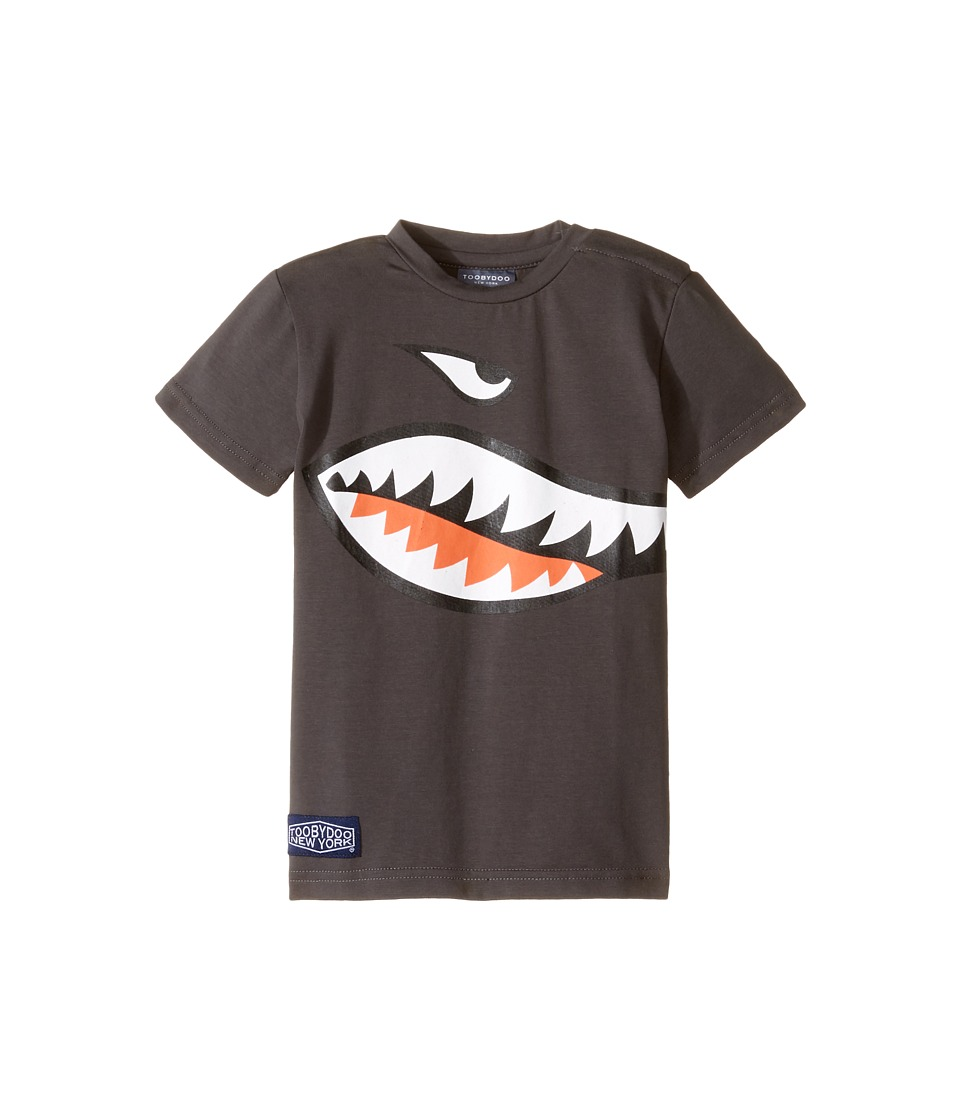 Toobydoo - Shark Mouth T-Shirt (Infant/Toddler/Little Kids/Big Kids) (Grey/Navy/White/Red) Boy's T Shirt