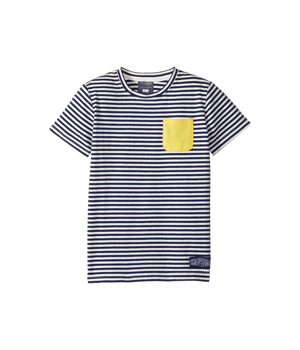 Toobydoo - Yellow Pocket T-Shirt (Infant/Toddler/Little Kids/Big Kids) (Navy/White/Yellow) Boy's T Shirt