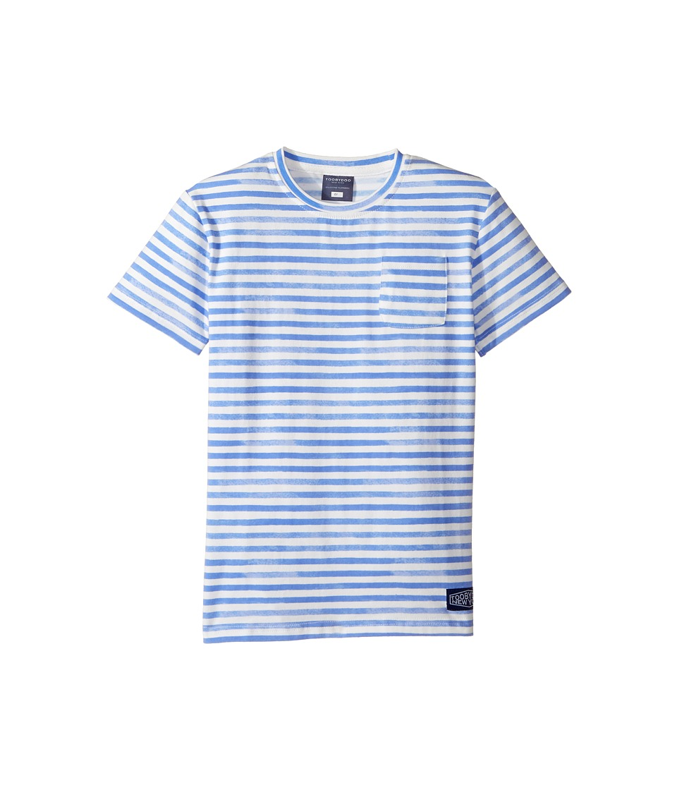 Toobydoo - Watercolor Blue T-Shirt (Infant/Toddler/Little Kids/Big Kids) (Blue/White) Boy's T Shirt