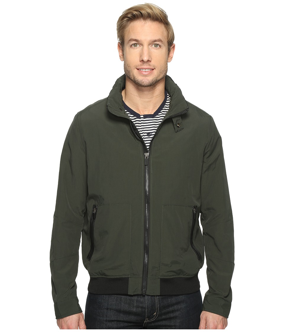 Kenneth Cole New York - Nylon Bomber Jacket (Forest) Men's Coat