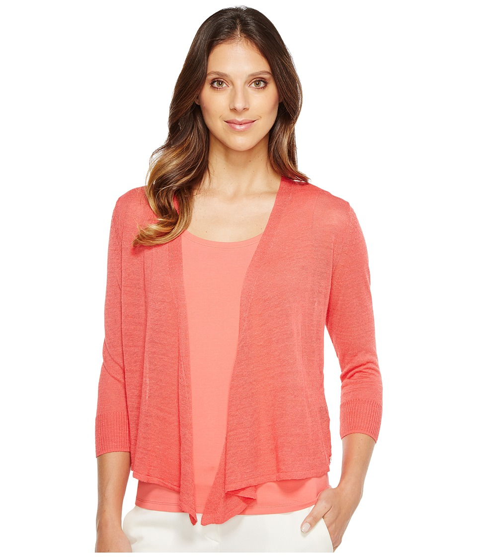 NIC+ZOE - Four-Way Cardy-Lighter Weight (Coral Crush) Women's Sweater