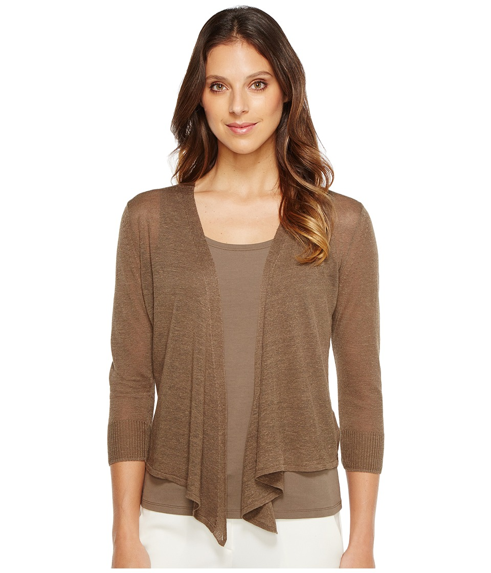 NIC+ZOE - Four-Way Cardy-Lighter Weight (Marshland) Women's Sweater