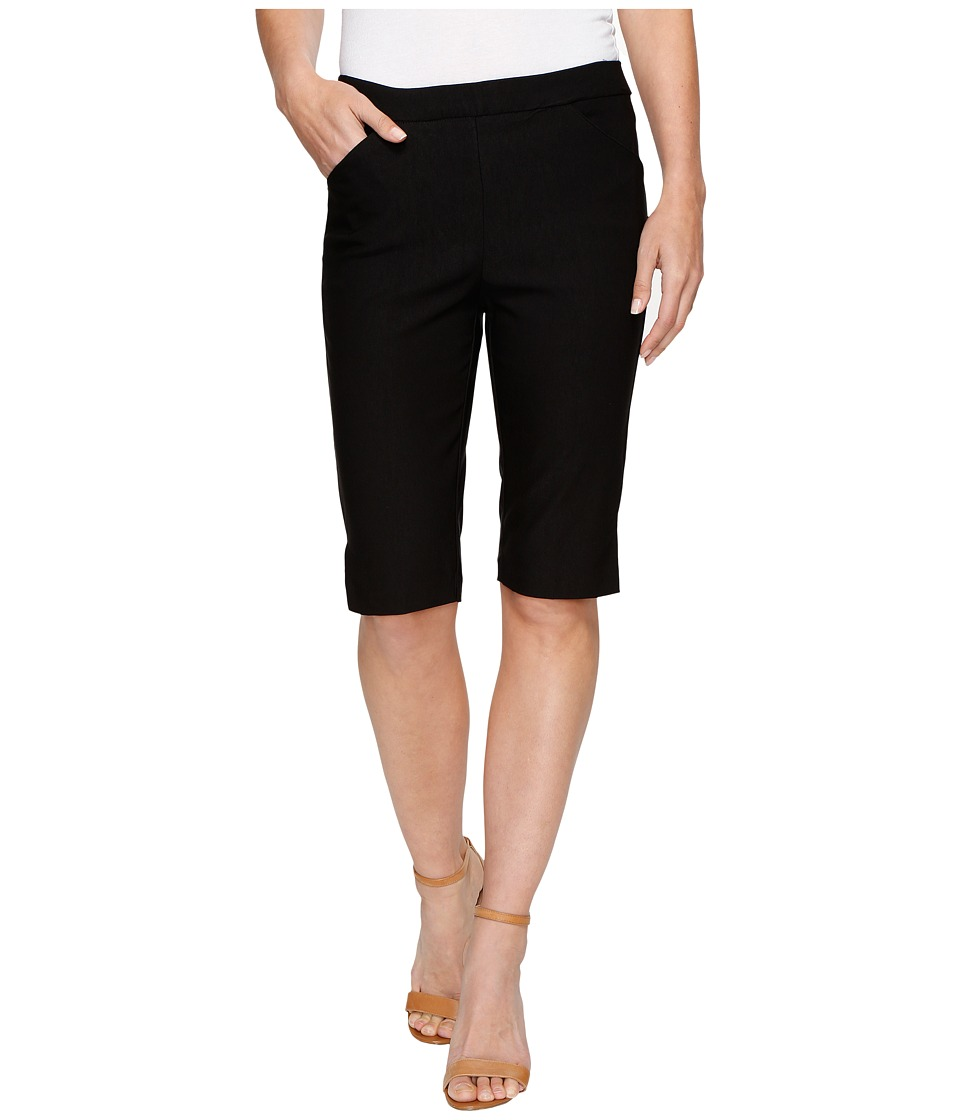 Tribal - Stretch Bengaline 13 Bermuda Shorts with Pocket (Black) Women's Shorts