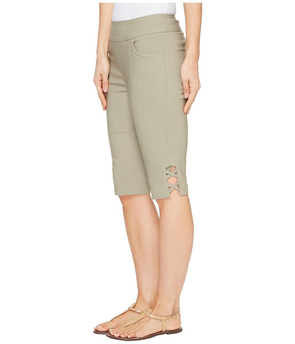 Tribal - Stretch Bengaline 13 Bermuda Shorts with Bling Detail (Oak Moss) Women's Shorts