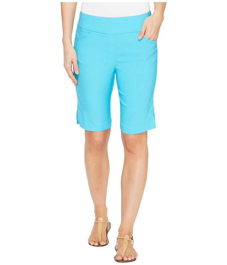 Tribal - Stretch Bengaline 10 Bermuda Shorts with Pocket (Dark Aqua) Women's Shorts