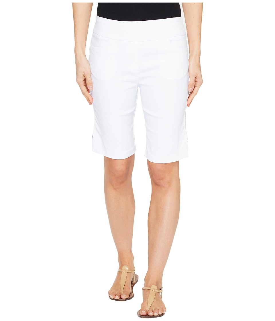 Tribal - Stretch Bengaline 10 Bermuda Shorts with Pocket (White) Women's Shorts