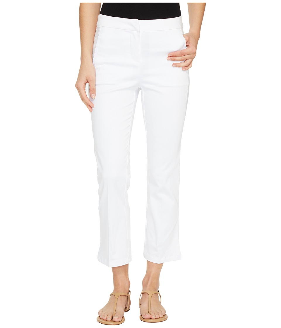Tribal Stretch Casual Sateen 25 Clean Front Capris (White) Women