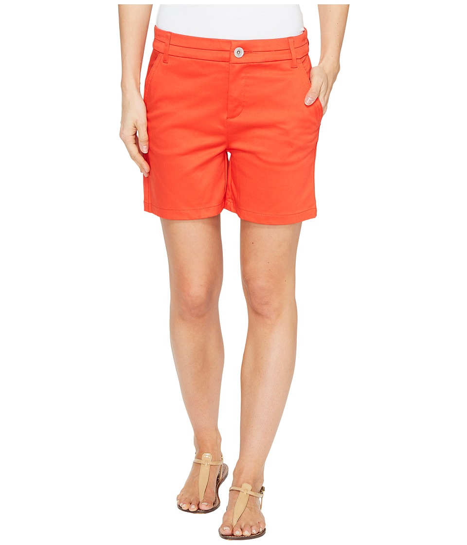 Tribal - Stretch Casual Sateen 5 Slash Pocket Shorts (Flame) Women's Shorts