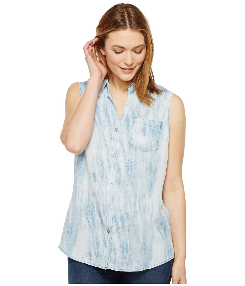 Tribal - Lyocell Sleeveless Shirt with Shirt Tail (Indigo) Women's Sleeveless