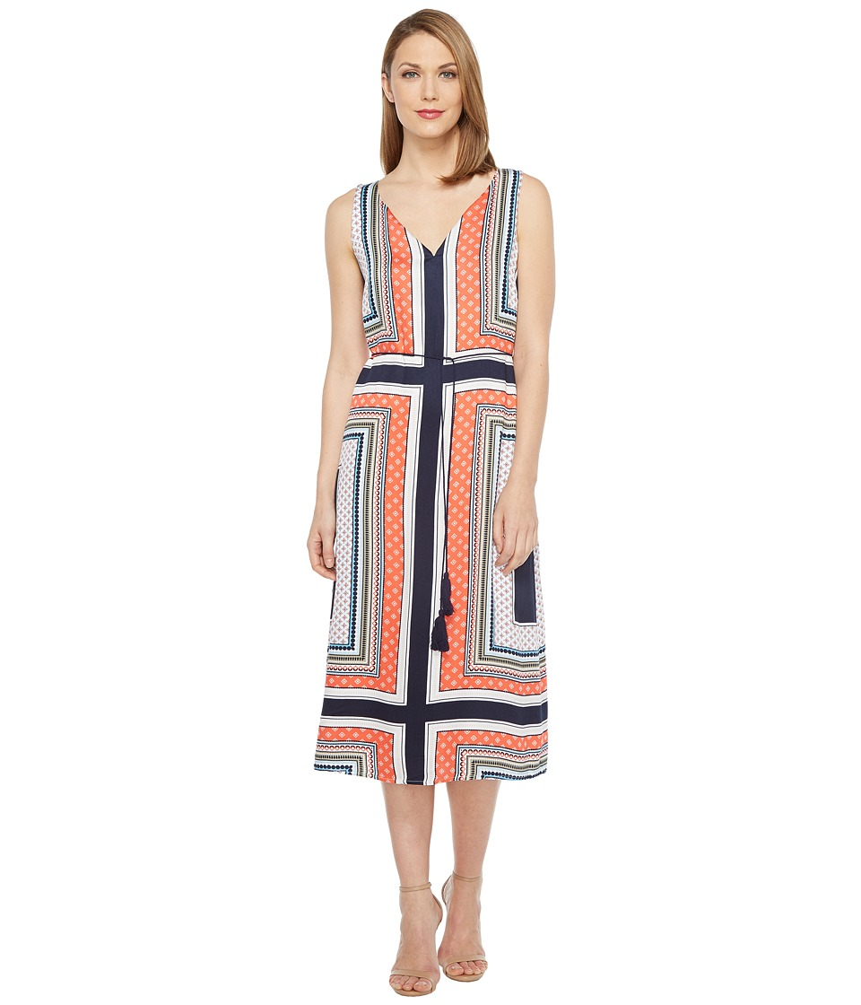 Tribal - Belted Dress (Papaya) Women's Dress
