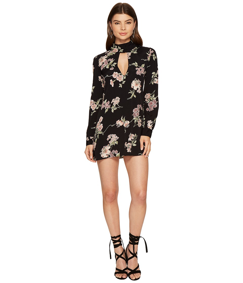 Flynn Skye - Leah Mini Dress (Black Botanical) Women's Dress