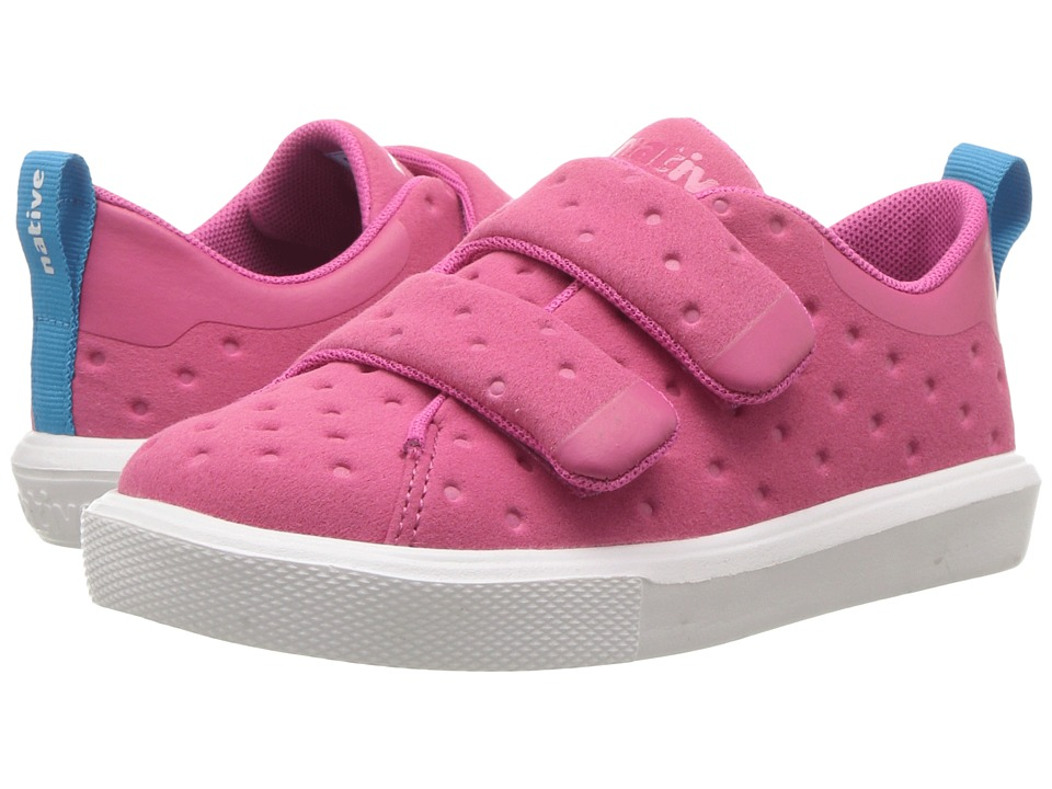 Native Kids Shoes Monaco HL (Toddler/Little Kid) (Hollywood Pink/Shell White) Girls Shoes