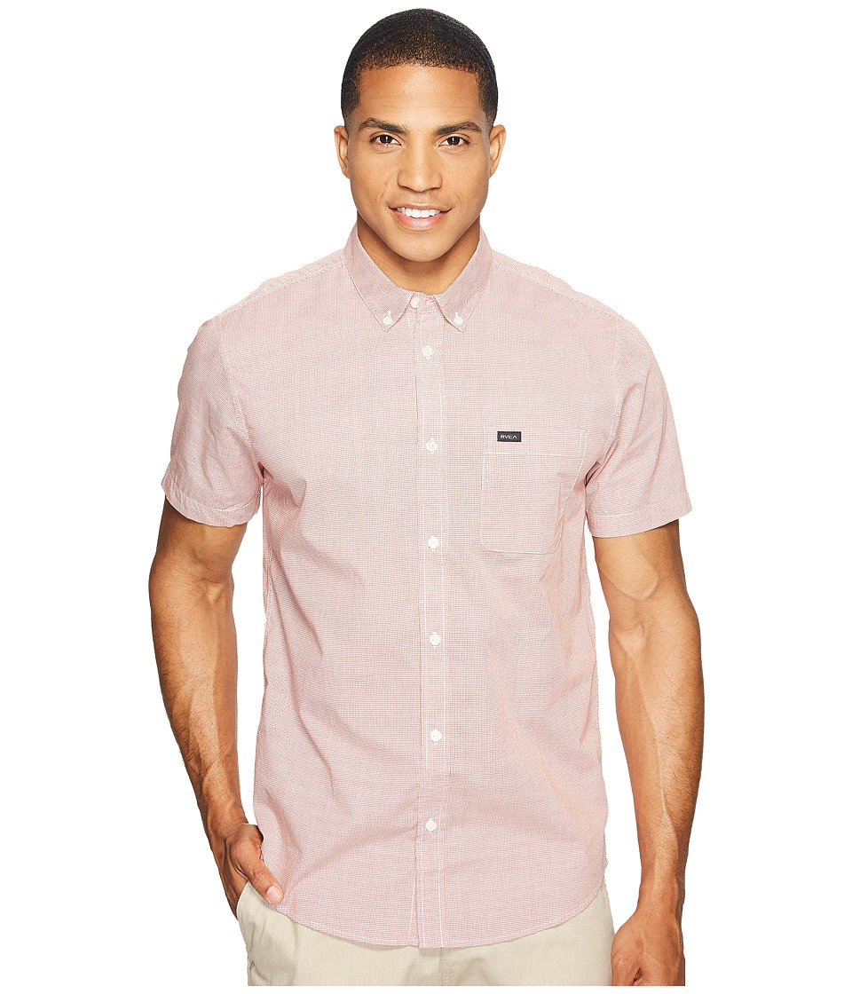 RVCA - That'll Do Micro Short Sleeve (Pompei Red) Men's Clothing