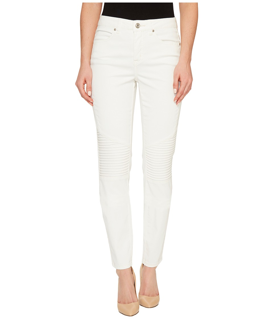 Tribal - Strech Soft Denim Biker Pants in Cream (Cream) Women's Jeans