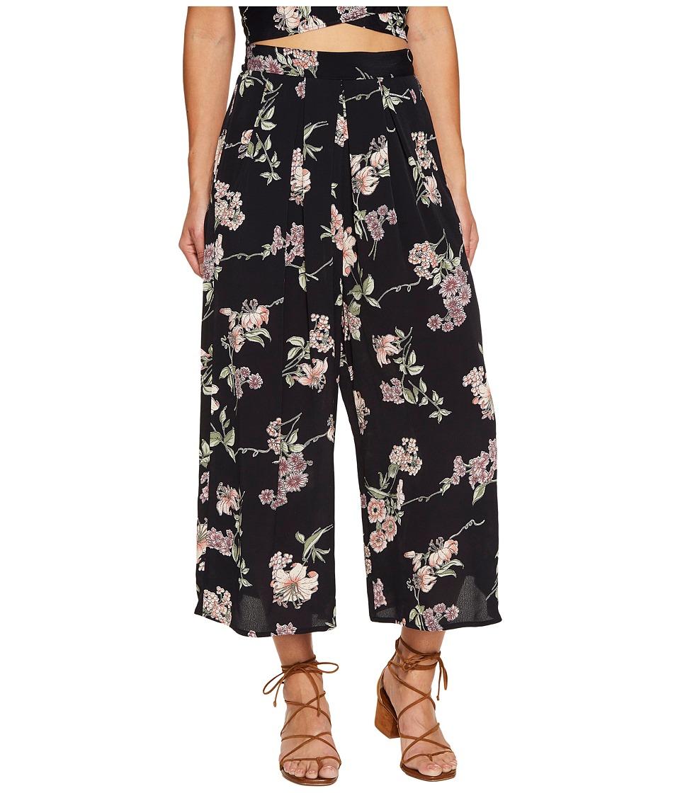 Flynn Skye Dylan Pants (Black Botanical) Women's Casual Pants
