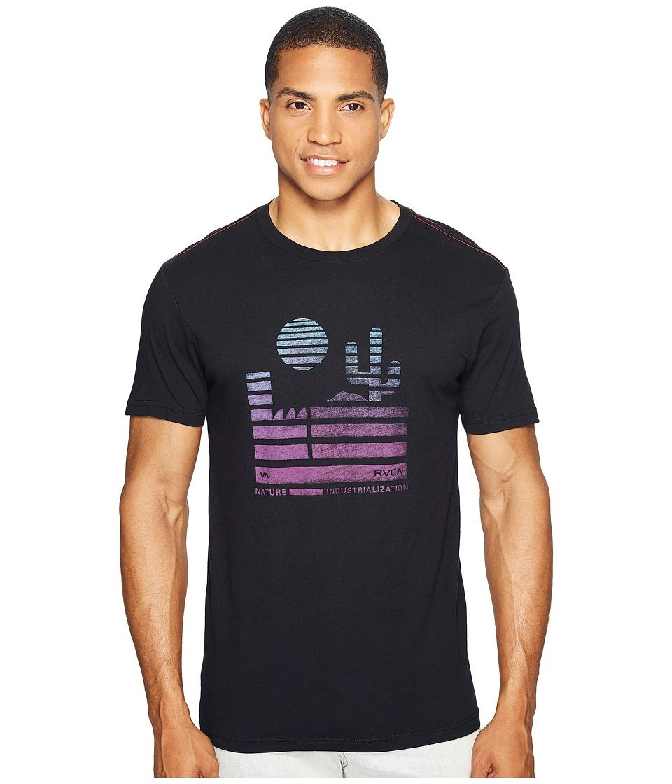 RVCA - Desert Sunrise Tee (Black) Men's T Shirt