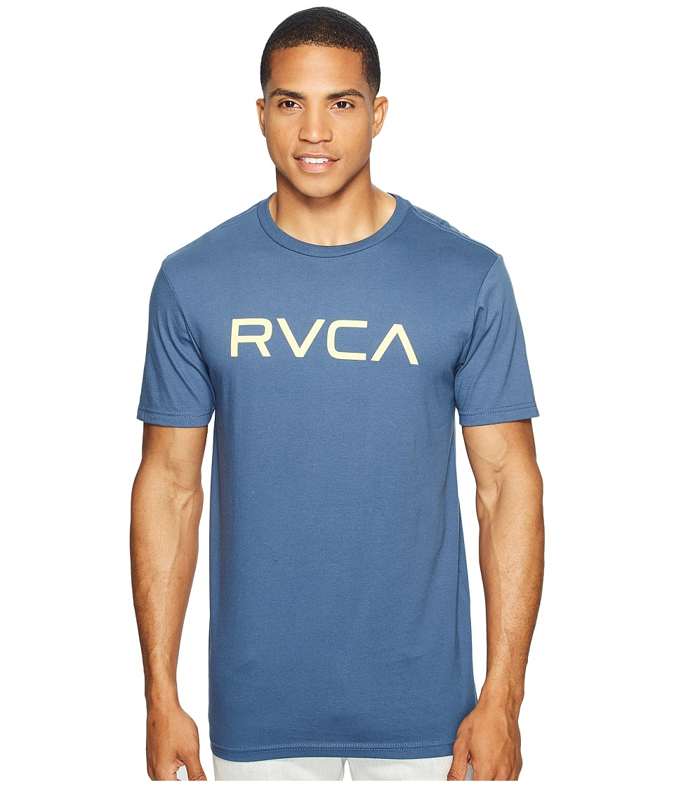 RVCA - Big RVCA Tee (Dark Denim) Men's T Shirt