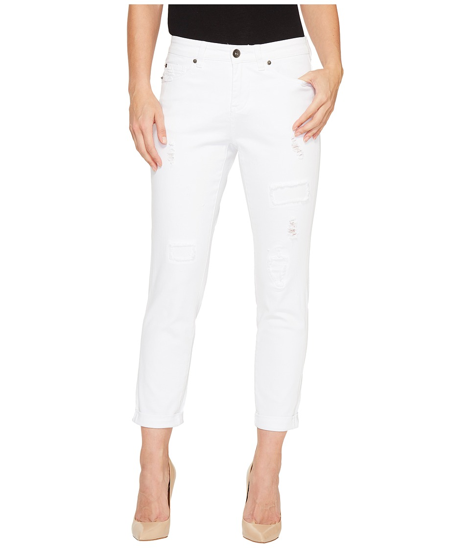 Tribal - Boyfriend Fit 25 Ripped and Repaired 25 Pants in White (White) Women's Jeans