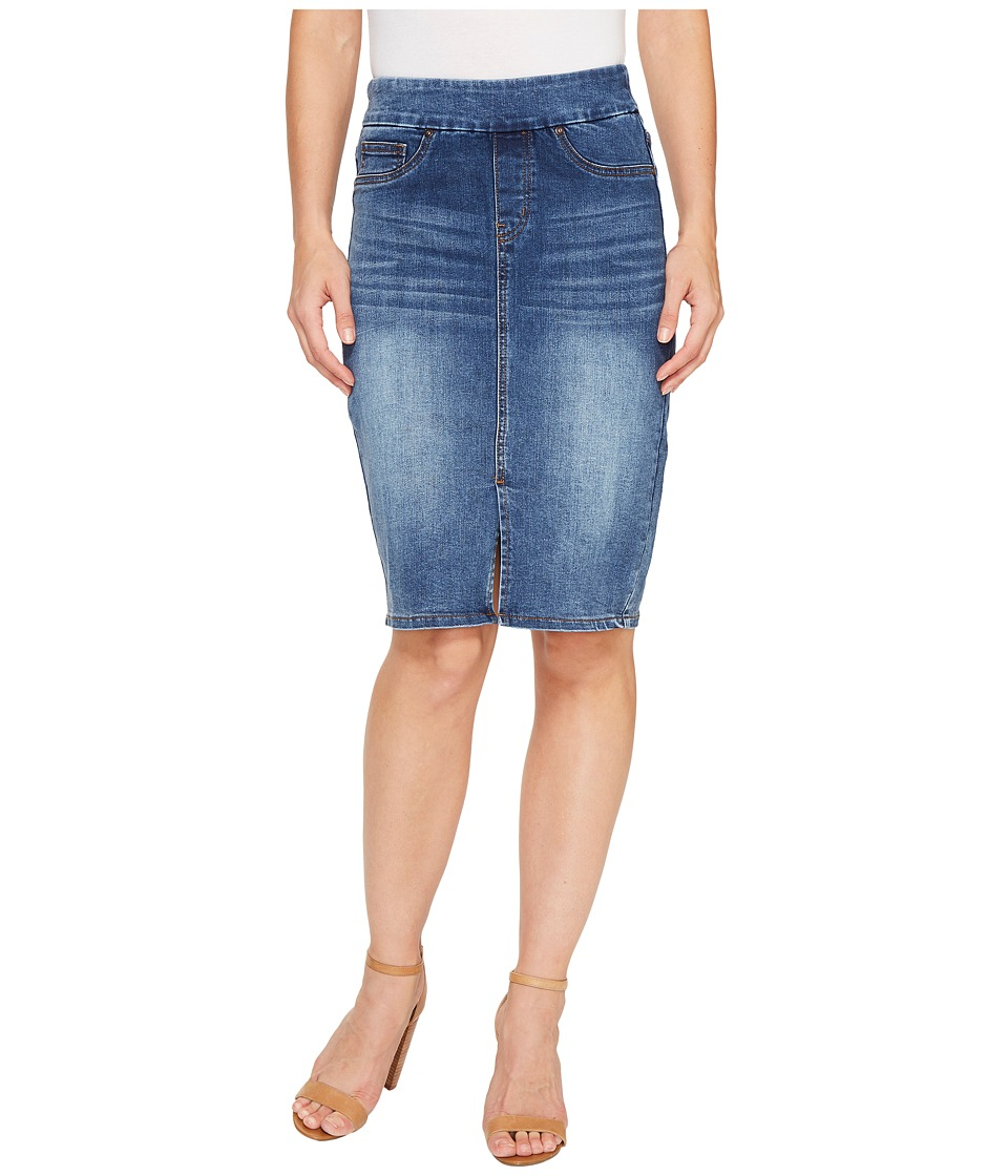 Tribal - Pull-On Denim Pencil Skirt (Faded Blue) Women's Skirt