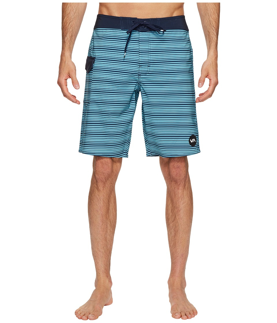 RVCA - Line O Sight Trunk (Maui Blue) Men's Swimwear