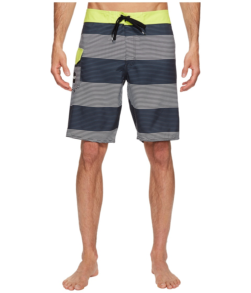 RVCA - Civil Stripe Trunk (Blue Slate) Men's Swimwear