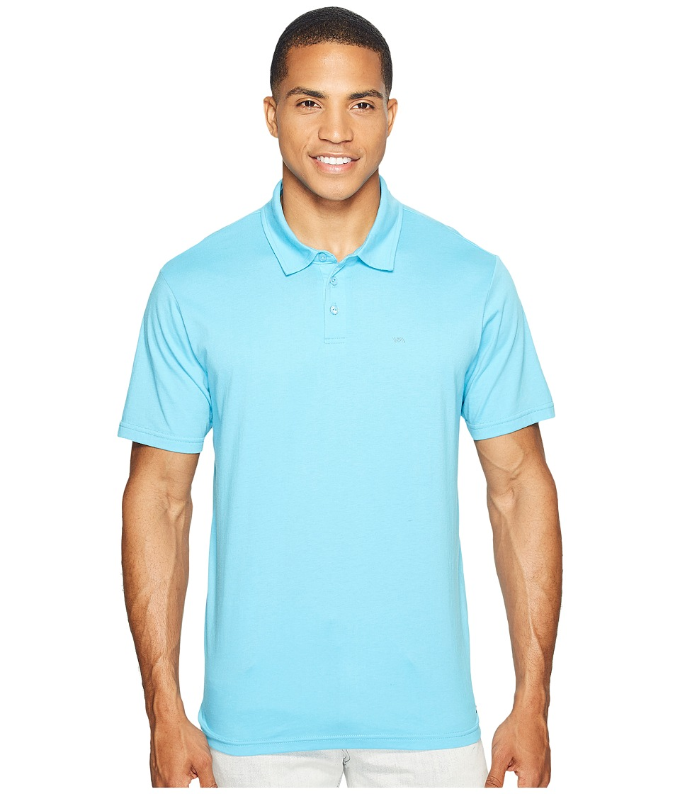 RVCA - Sure Thing II Polo (Blue Jay) Men's Clothing
