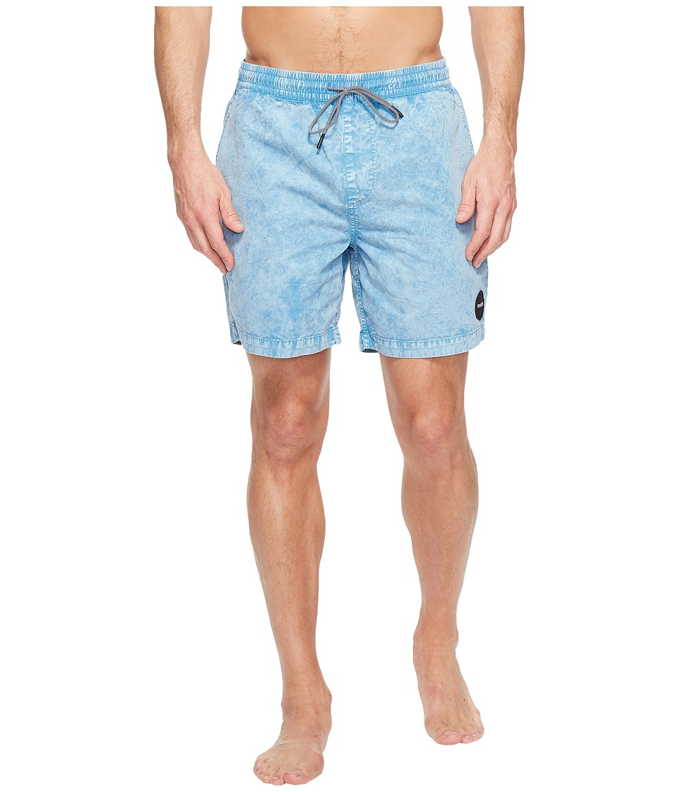 RVCA - Fade Elastic Trunk (Blue Jay) Men's Swimwear