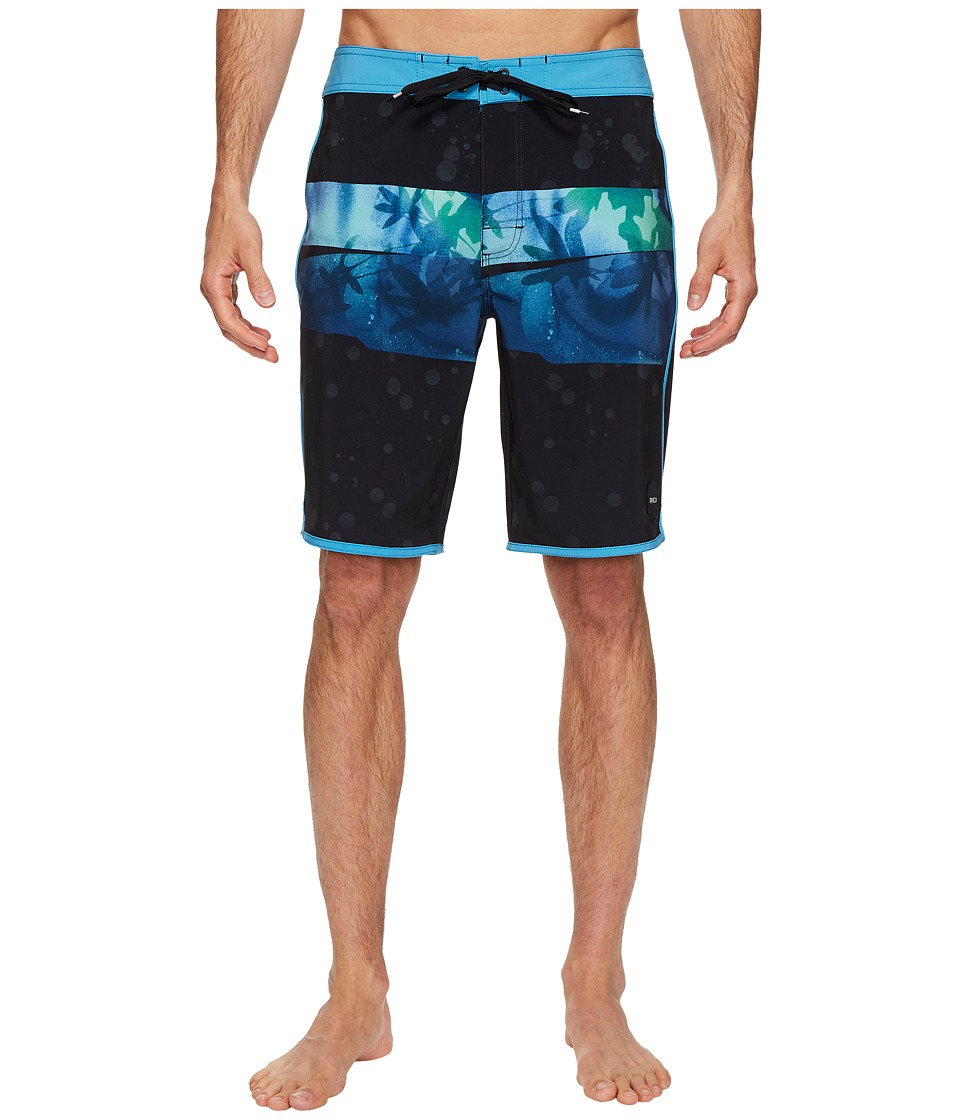 RVCA - Chopped Trunk (Blue Black) Men's Swimwear