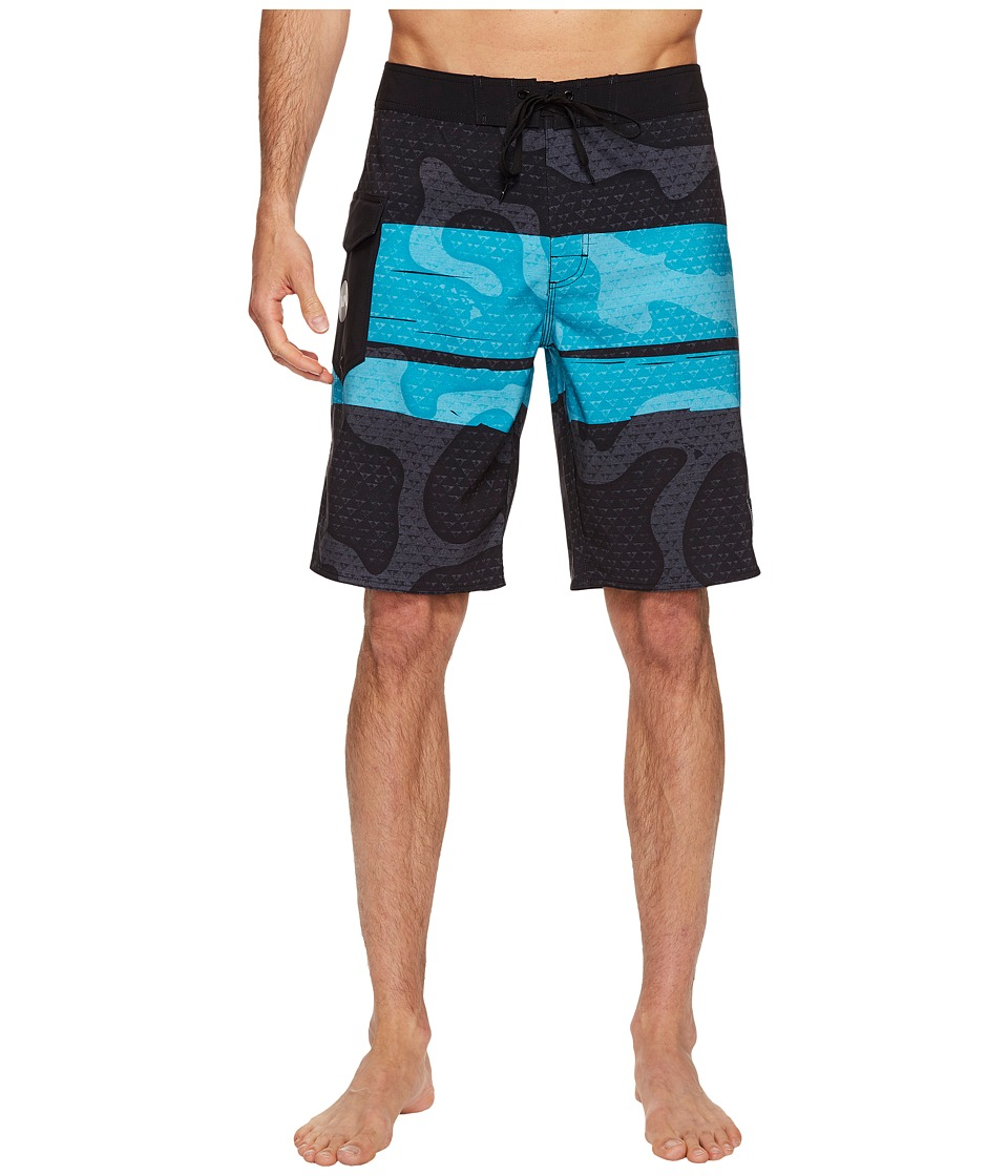 RVCA - Makua Trunk (Black) Men's Swimwear