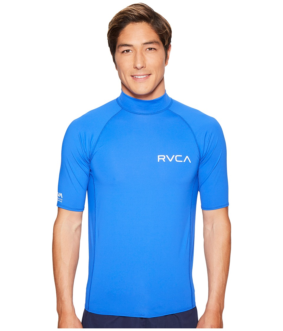 RVCA - Solid Short Sleeve Rashguard (Surf) Men's Swimwear
