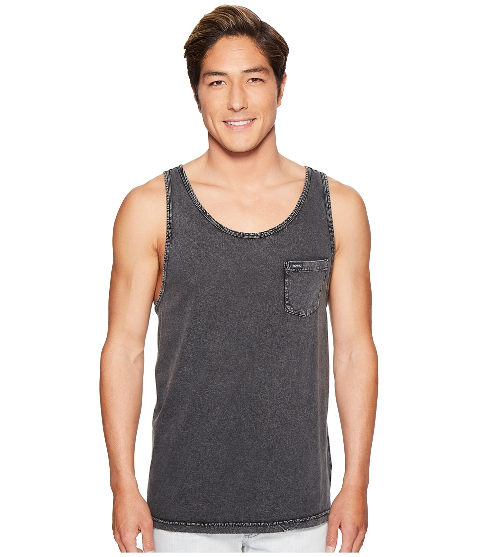 RVCA - PTC Fade Tank Top (Black) Men's Clothing