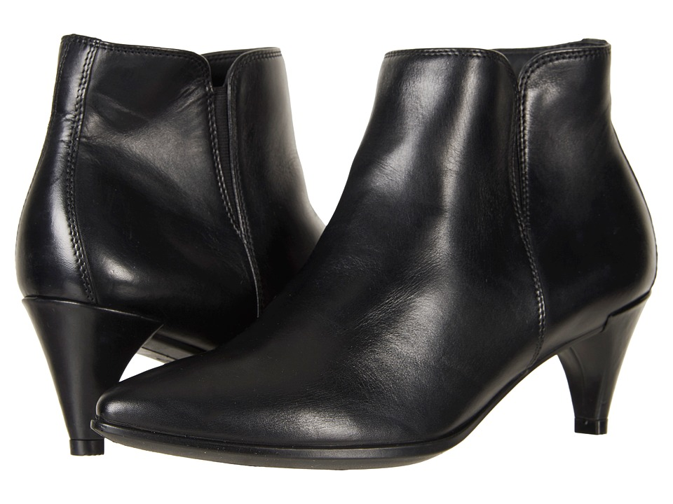 ECCO Shape 45 Sleek Ankle Boot (Black Calf Leather) Women