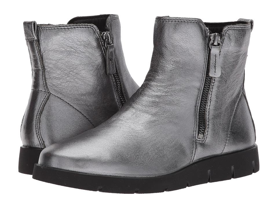 ECCO Bella Zip Boot (Dark Shadow Cow Leather) Women