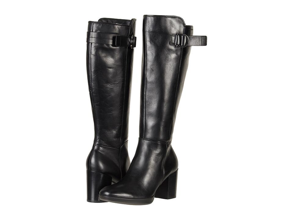 ECCO Shape 55 Chalet Tall Boot (Black Calf Leather) Women