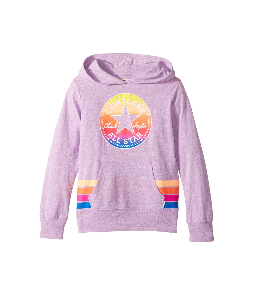 Converse Kids - Sunset Hoodie (Big Kids) (Fuchsia Glow Snow Heather) Girl's Sweatshirt
