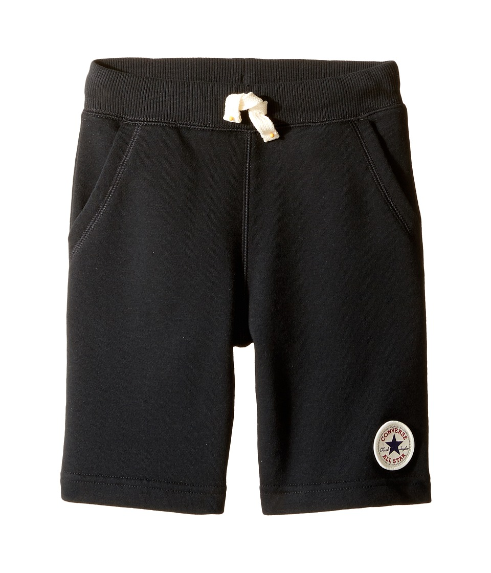Converse Kids - Core French Terry CTP Shorts (Toddler/Little Kids) (Black) Boy's Shorts