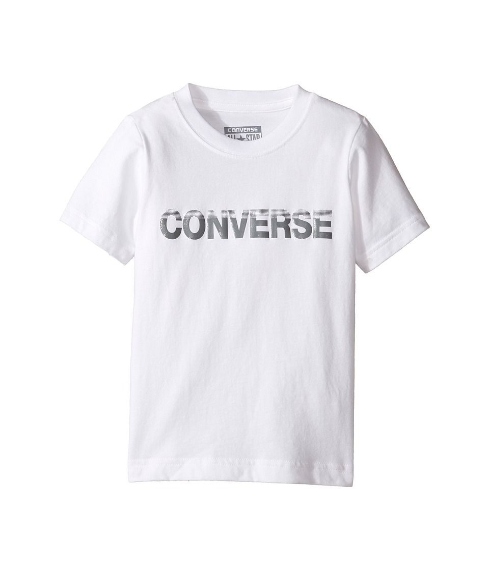 Converse Kids - HD Tee (Toddler/Little Kids) (White) Boy's T Shirt
