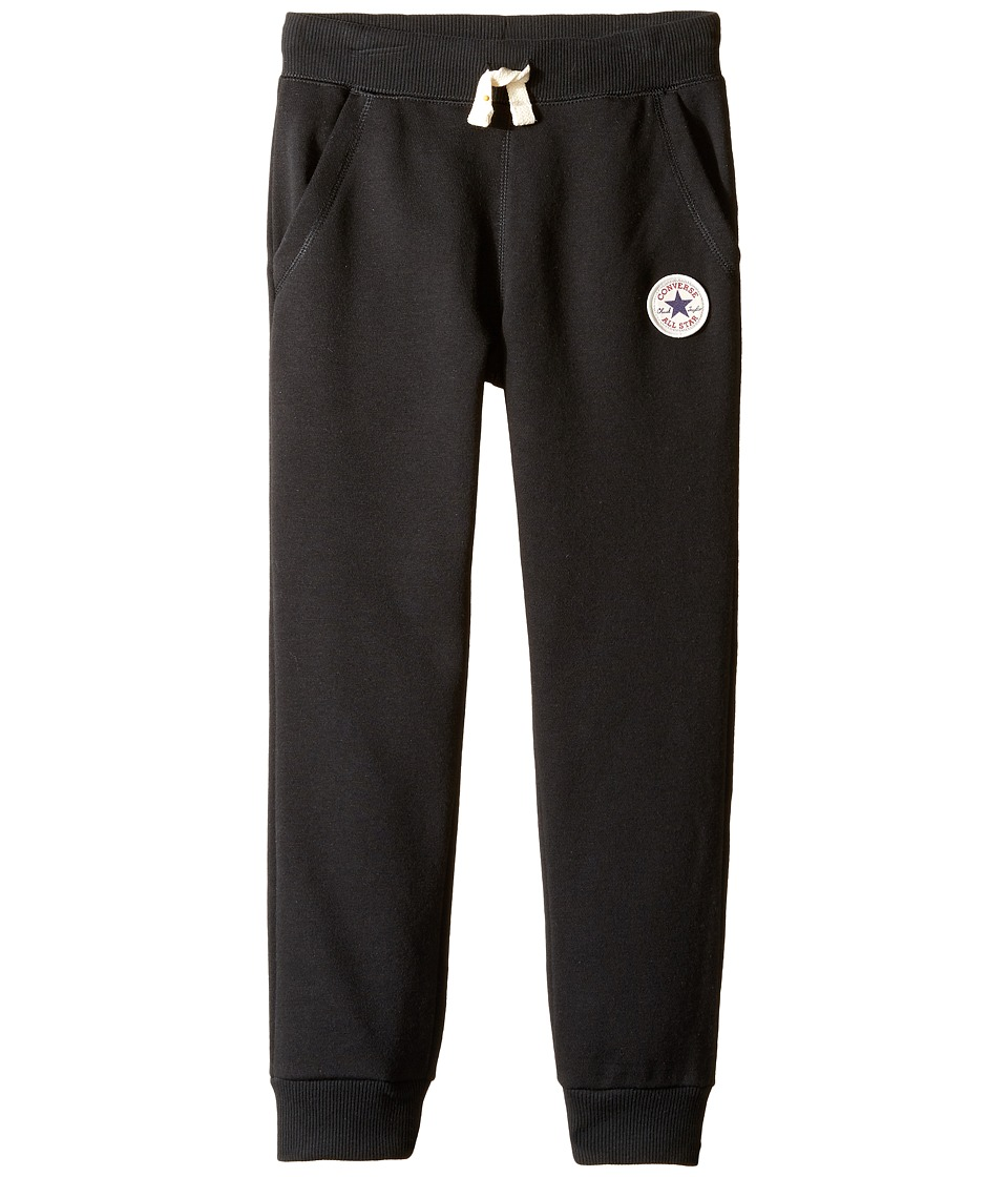 Converse Kids - Core French Terry CTP Pants (Toddler/Little Kids) (Black) Boy's Casual Pants