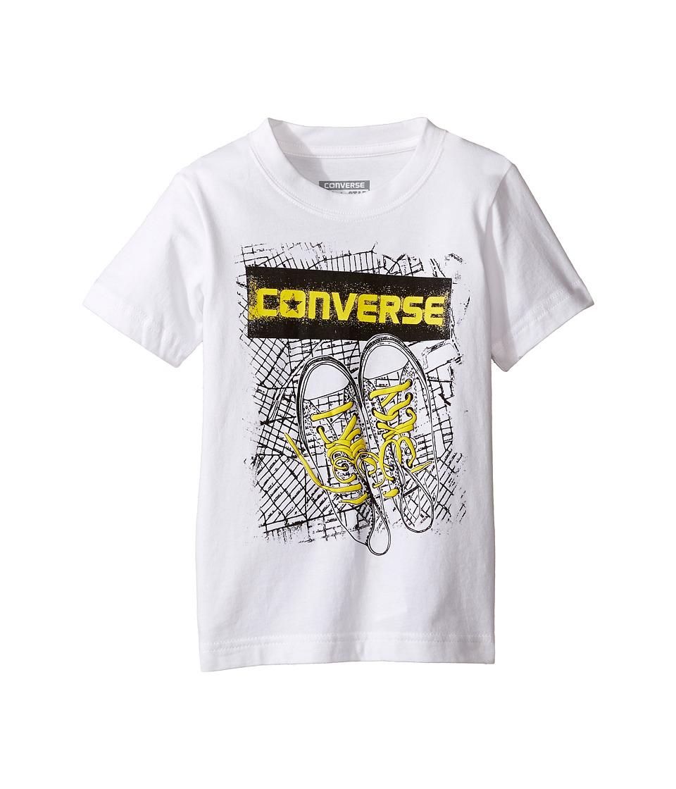 Converse Kids - BK Map Tee (Toddler/Little Kids) (White) Boy's T Shirt
