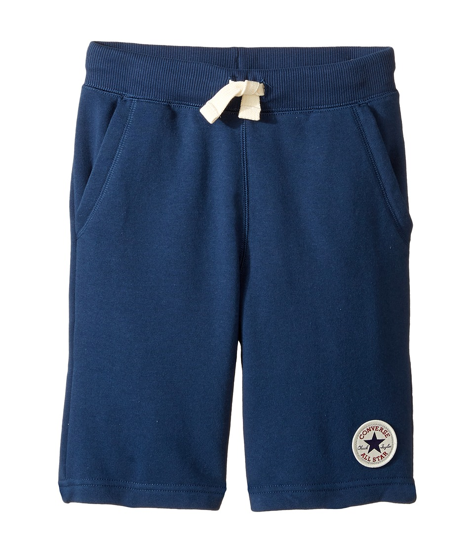 Converse Kids - Core French Terry CTP Shorts (Big Kids) (All Star Navy) Boy's Shorts