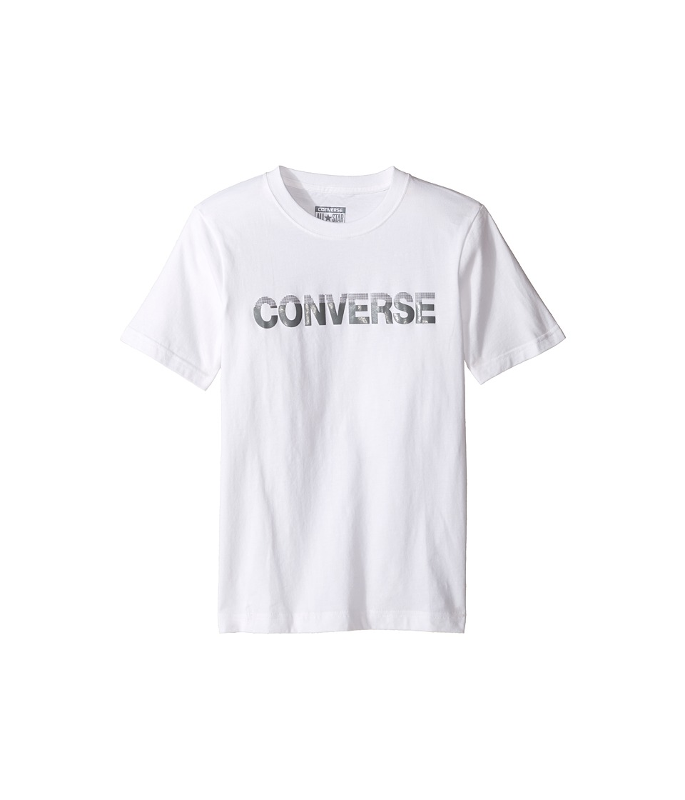 Converse Kids - HD Tee (Big Kids) (White) Boy's T Shirt
