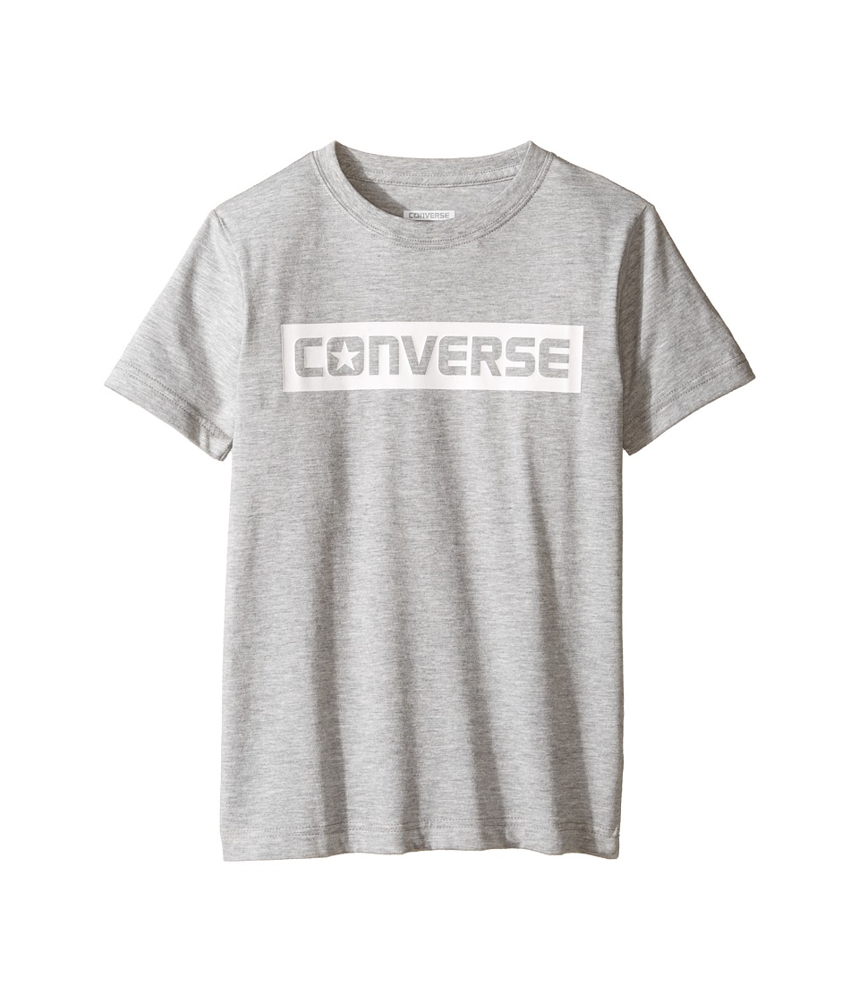 Converse Kids - HD Wordmark Tee (Big Kids) (Dark Grey Heather) Boy's T Shirt