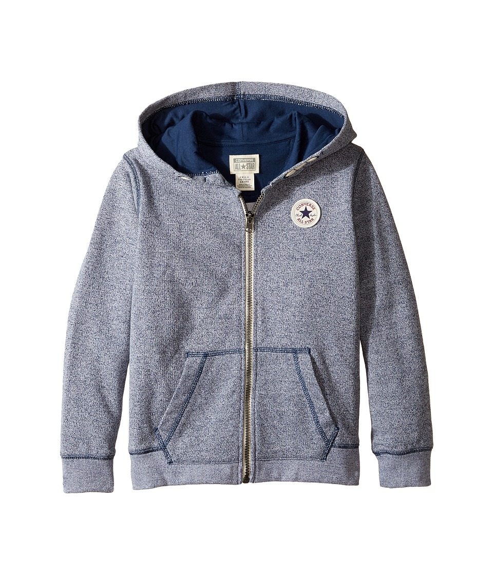 Converse Kids - Core CTP Marled Hoodie (Toddler/Little Kids) (Navy/White Marl) Boy's Sweatshirt