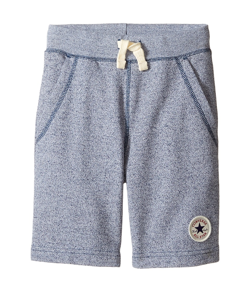 Converse Kids - Core Marled Terry Shorts (Toddler/Little Kids) (Navy/White Marl) Boy's Shorts