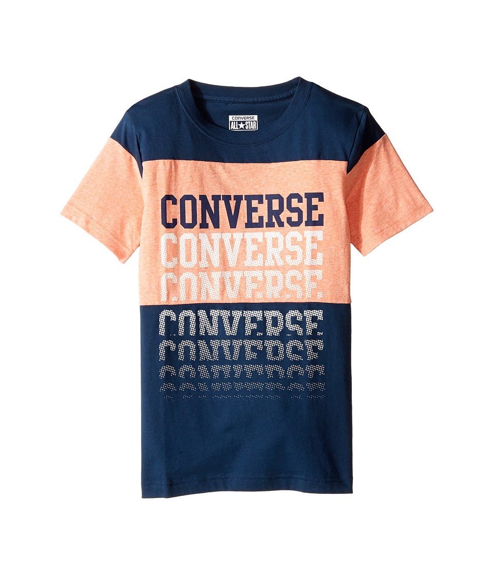 Converse Kids - Color Block Repeat Top (Big Kids) (All Star Navy) Boy's Clothing
