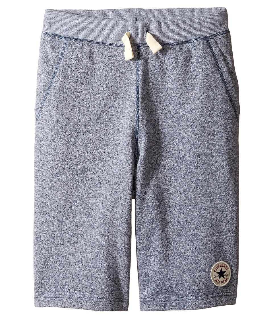Converse Kids - Core Marled Terry Shorts (Big Kids) (Navy/White Marl) Boy's Shorts