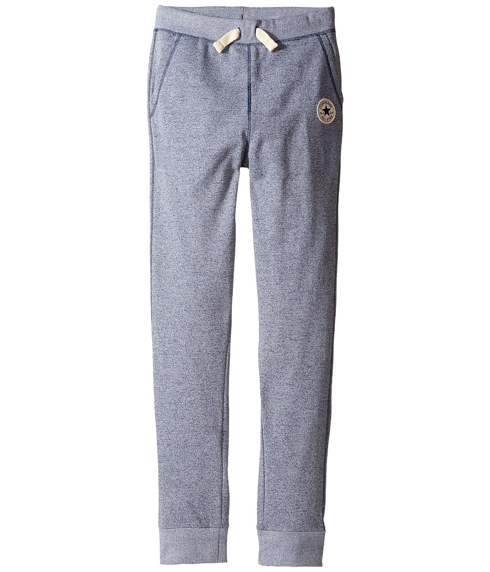 Converse Kids - Core Marled French Terry CTP Pants (Big Kids) (Navy/White Marl) Boy's Casual Pants